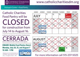 Catholic Charities Food Pantry to Close for Renovations