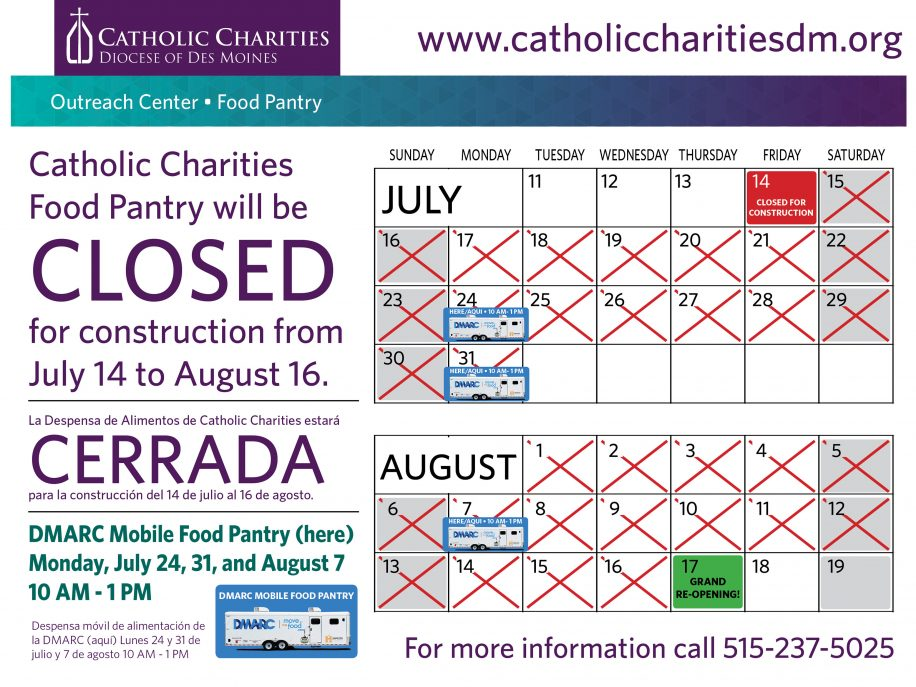 Catholic Charities Food Pantry to Close for Renovations Catholic