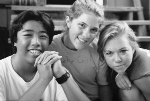 CC usa photo 3 teens BW
