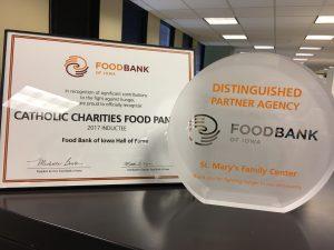 2017 Food Bank of Iowa Distinguished Partner Award