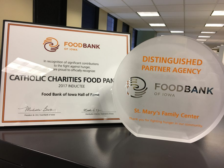 Food Bank of Iowa Awards