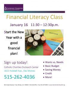 Financial Literacy flyer