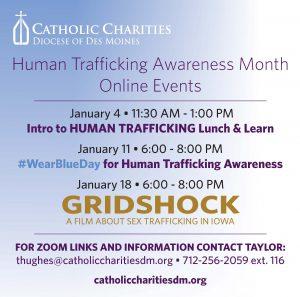 2021 Human Trafficking Awareness Month FB Post