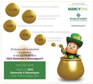 2021 Event Shamrocks & Schenanigans coin graphic